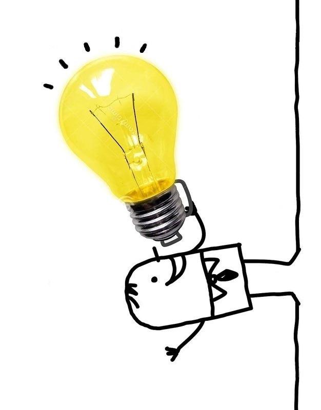 LMA Sud PACA illustration personnage tenant une ampoule comme porte-voix