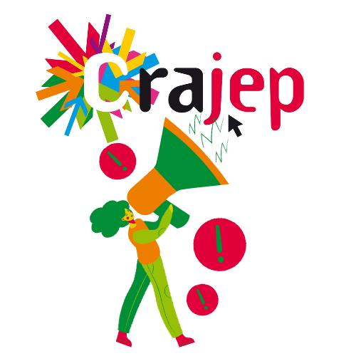 illustration d'une personne tenant un mégaphone avec le logo CRAJEP