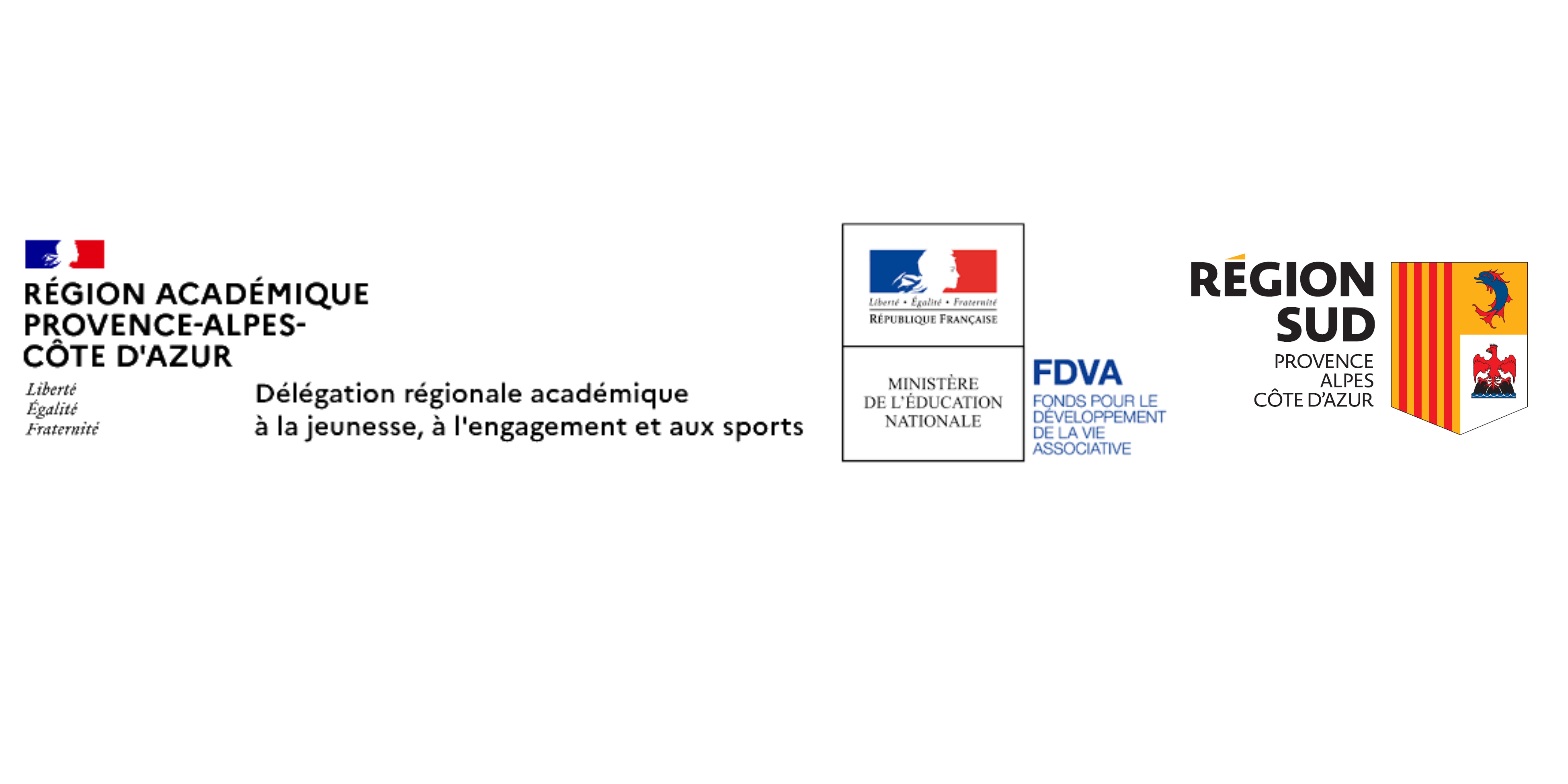 logos des partenaires DRAJES FDVA et Région Sud