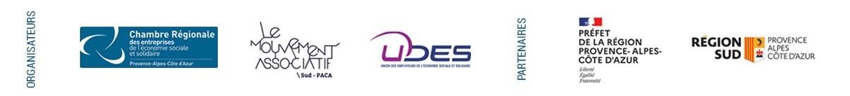 logos partenaires CRESS UDES LMA SUD PACA et partenaire PREFET PACA et REGION SUD